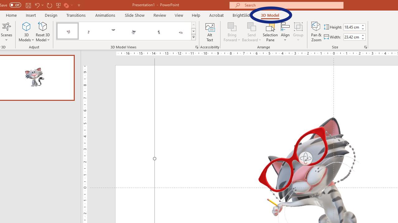 3D model tab
